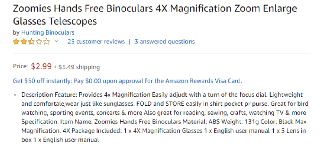 amazon product listing optimization - what not to do